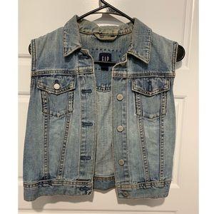 Crop Blue Jean Vest